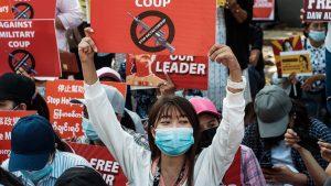 Myanmar protests.