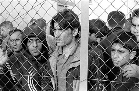 Refugees at Fylakio Detention Center for Immigrants
