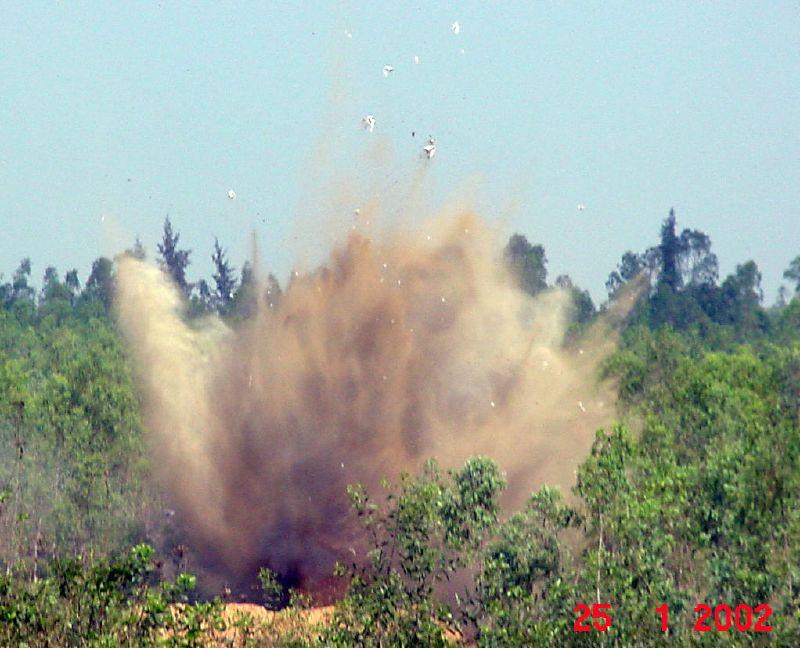 exploding landmine