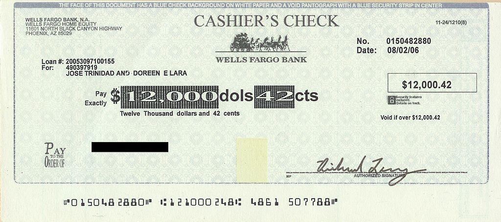 fake check