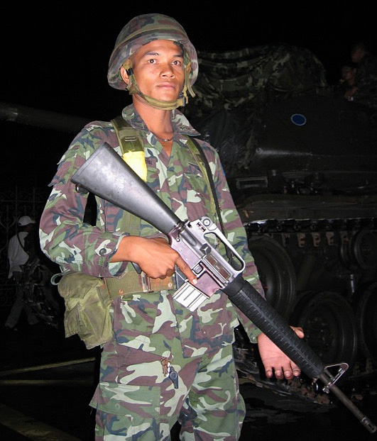 thai coup soldier