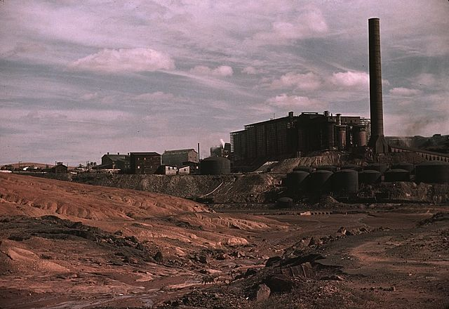copper mining plant