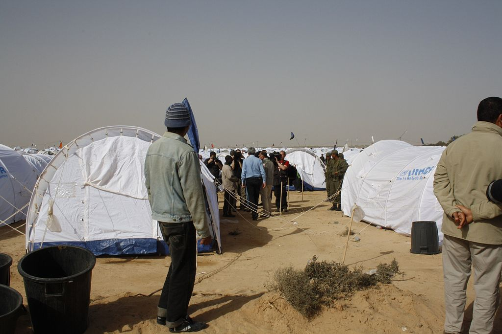 transit camp for migrants