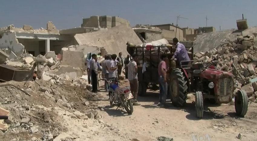 Azaz, Syria during the Syrian Civil War.