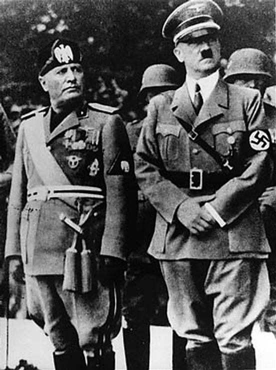 Hitler and Mussolini together
