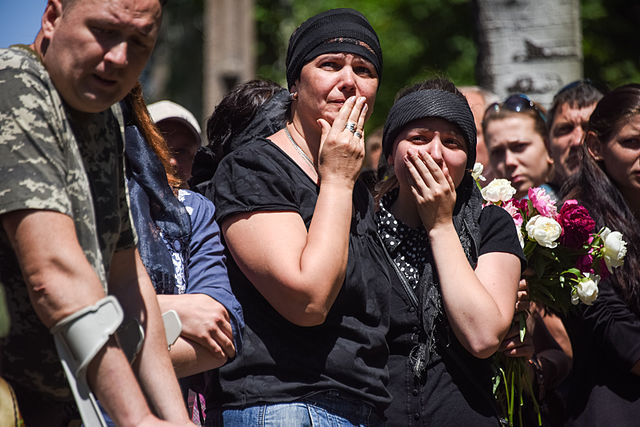 Mourners in Ukraine Conflict