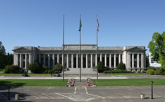 The Temple of Justice at the Washington State Capitol in Olympia, Washington.