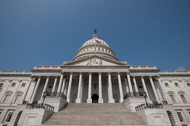 us capitol angle view