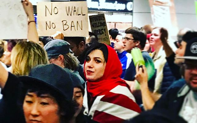 Protest over President Trump's travel ban