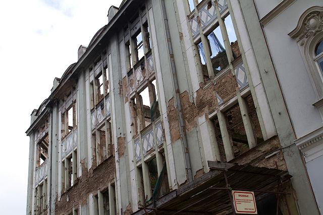 Ruins of the Bosnian War in Sarajevo, 2012.