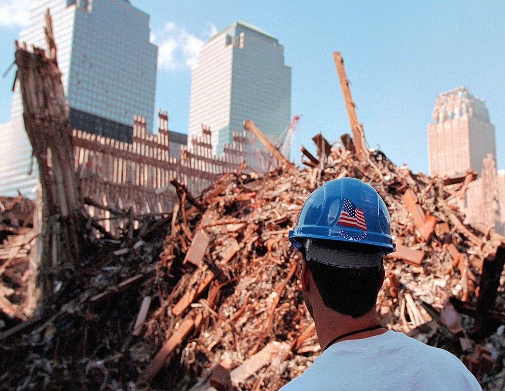Worker at ground zero