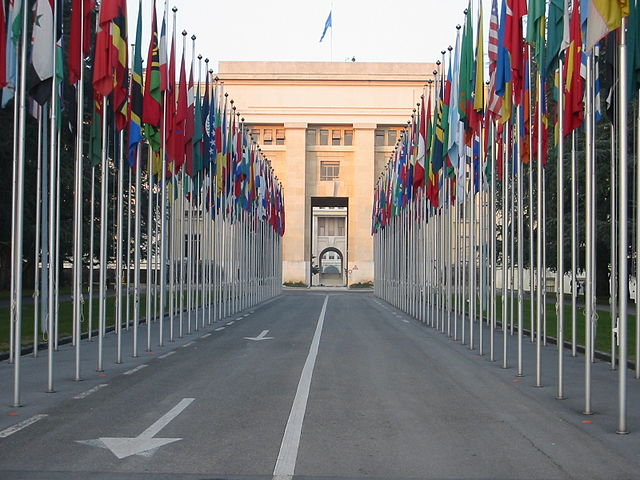 UN Geneva flags