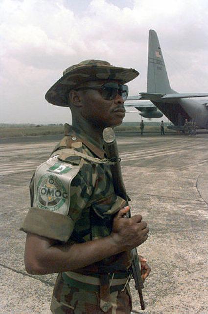soldier on Ivory Coast