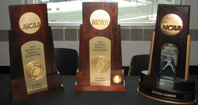 NCAA Championship Trophies