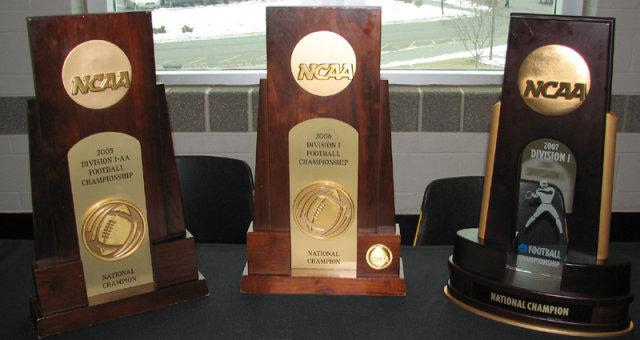 NCAA Championship Trophies