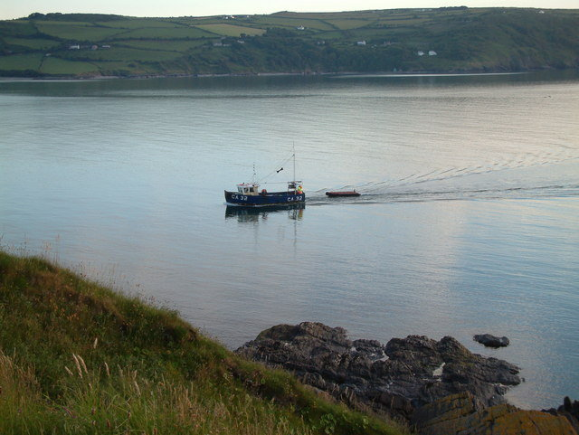 Fishing Boat off UK coastline