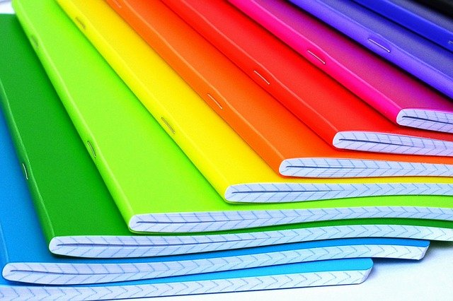 rainbow notebooks