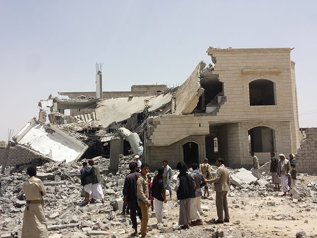 House destroyed by Saudi airstrike