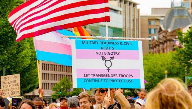 trans ban protest
