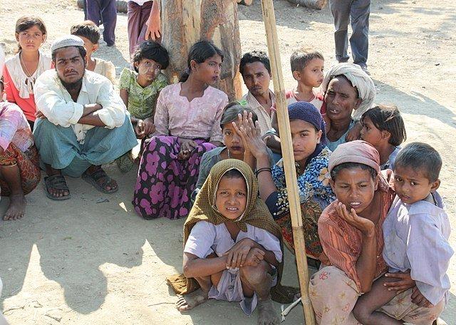 Displaced Rohingya Muslims