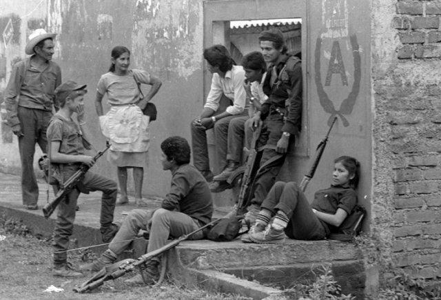 ERP combatants Perquín, 1990 - El Salvador Civil War