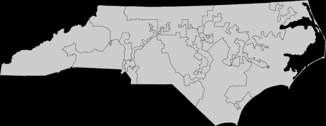 North Carolina district map
