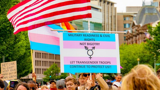 trans ban protest
