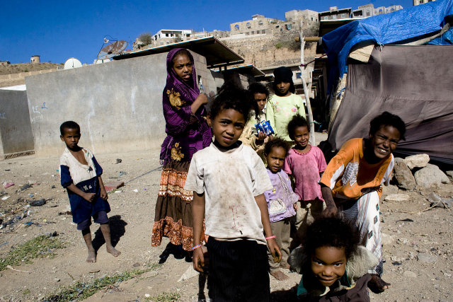 Children in Taizz, Yemen