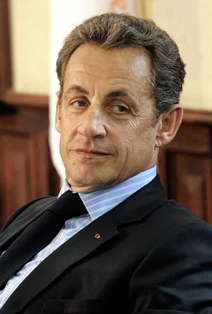 Cropped photograph of French President Nicolas Sarkozy at EPP Summit October 2010.