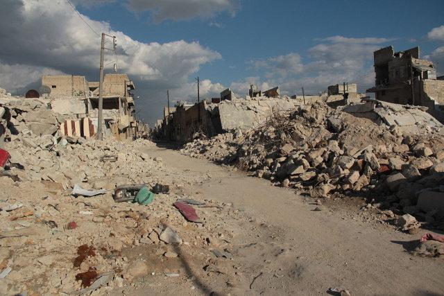 Syria rubbles