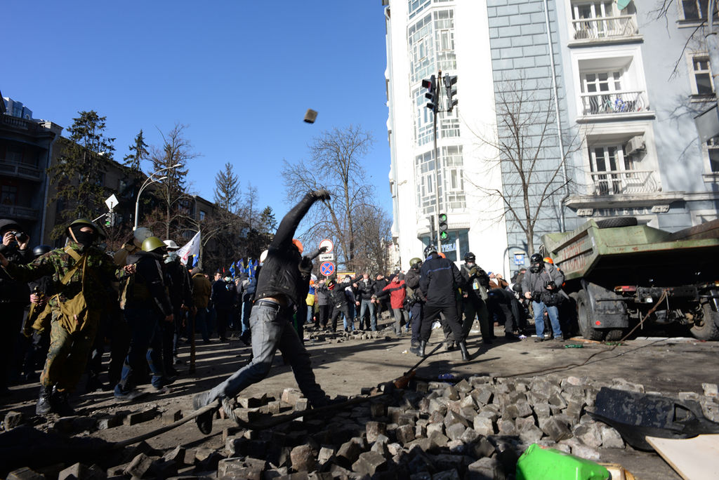 Ukraine implicates members of elite police force in protester shooting