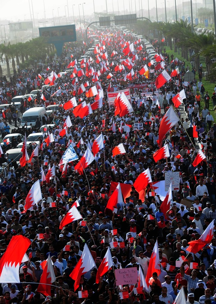 Bahrain court sentences eight protesters to life in prison