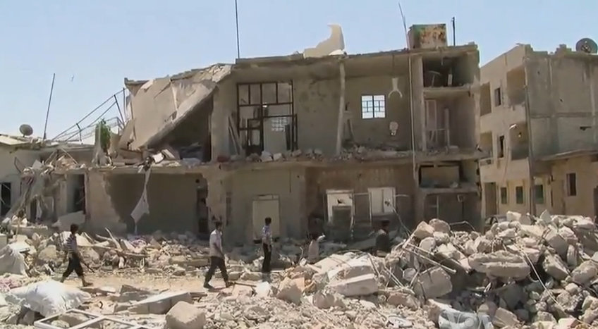 HRW: cluster bombs being used in northern Syria