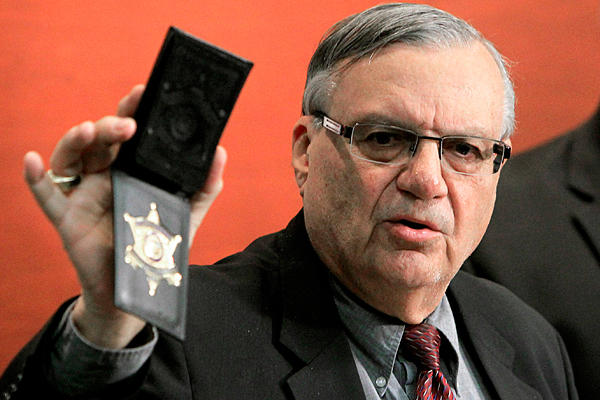 DOJ to charge Arizona sheriff Arpaio with contempt