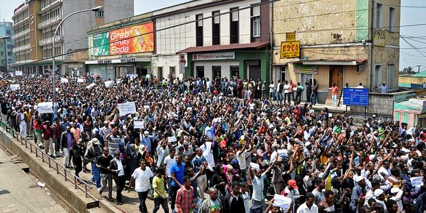 UN urges Ethiopia to end violence against peaceful protesters