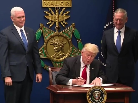 Trump signs new executive orders targeting drugs and crime