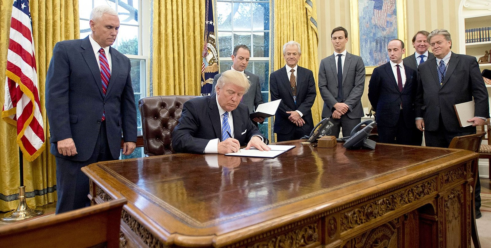 President Trump signs the Syria Genocide Relief and Accountability Act of 2018 into law