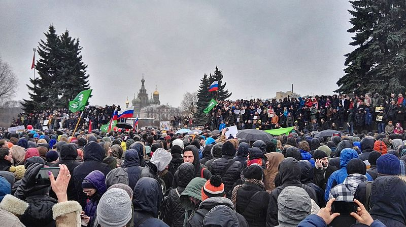 Russia rights group: more than 1,000 detained at protests across nation