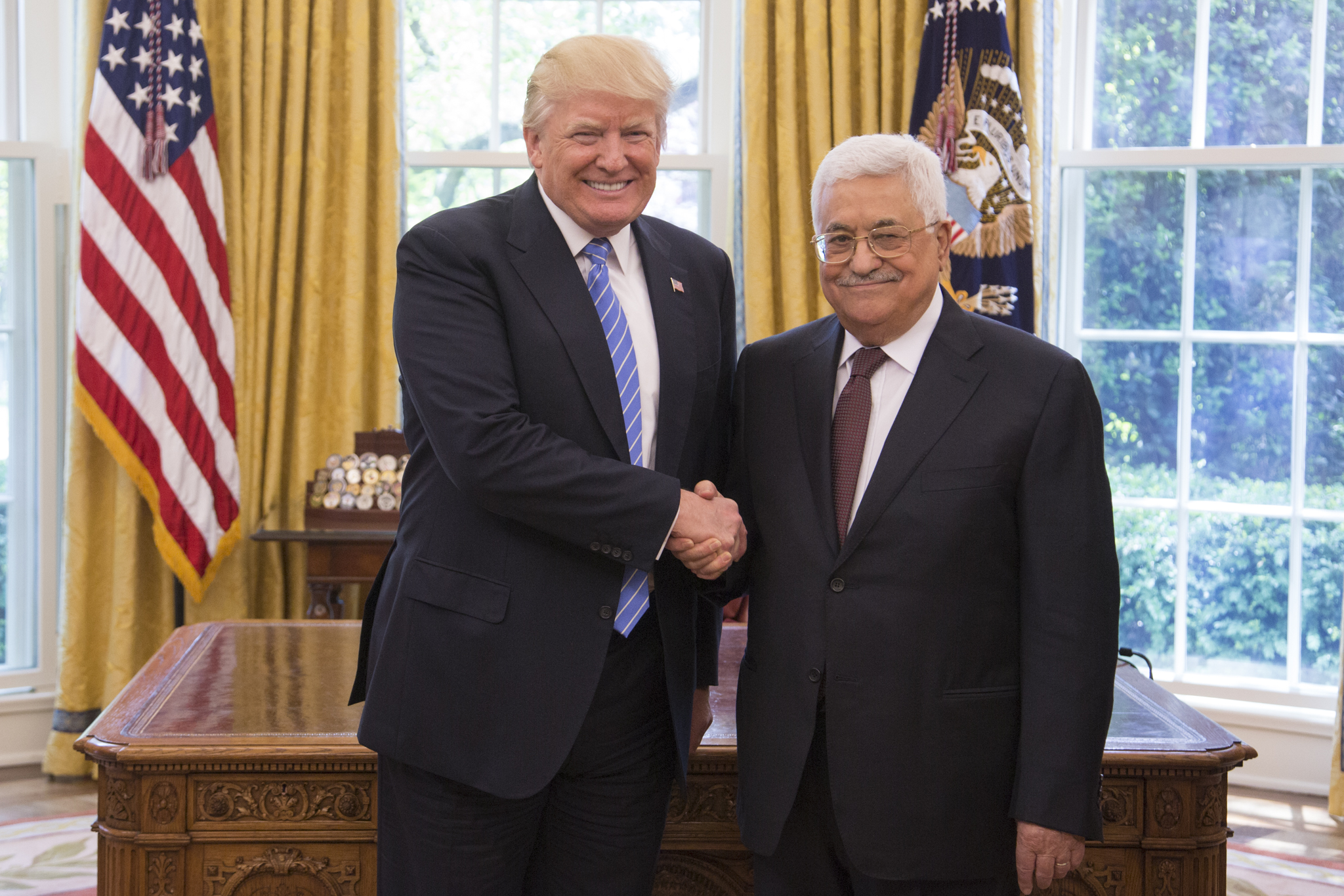 Palestine president says he will cease accepting US aid