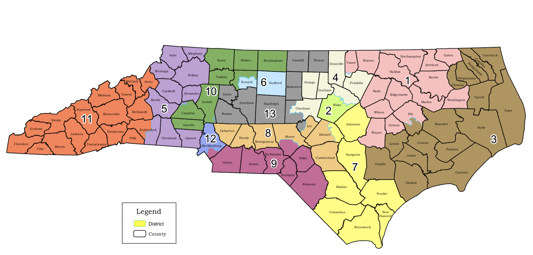 North Carolina legislature enacts new congressional map