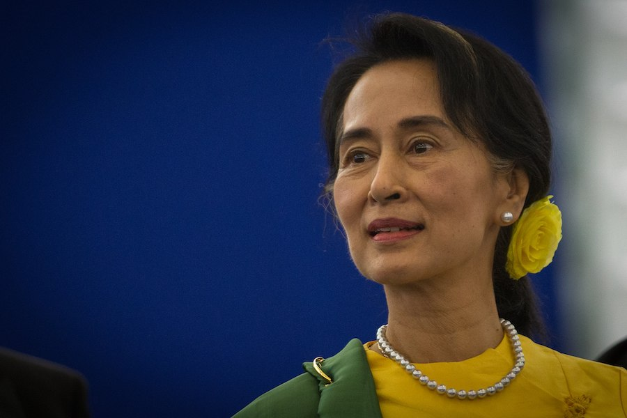 Ousted Myanmar leader Suu Kyi appears in public for first time since military coup